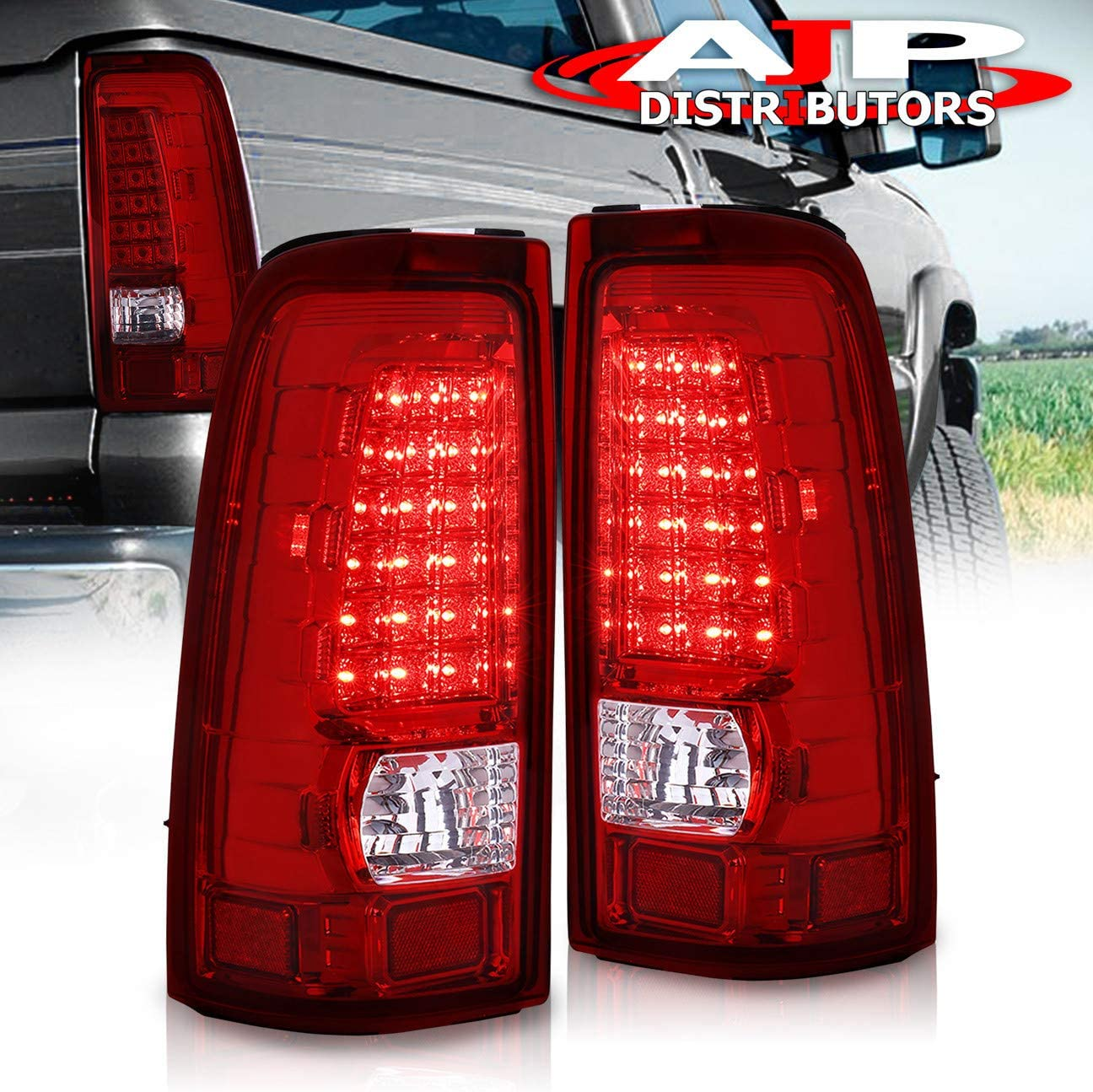 03-06 Chevy Silverado Factory Style Red Brake Signal Lamp Tail Light Left+Right