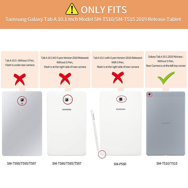 Infiland H/ülle f/ür Samsung Galaxy Tab A 10.1 2019 Slim Ultraleicht Halten Schutzh/ülle H/ülle kompatibel mit Samsung Galaxy Tab A 2019 10.1 Zoll,Dont Touch T510//T515