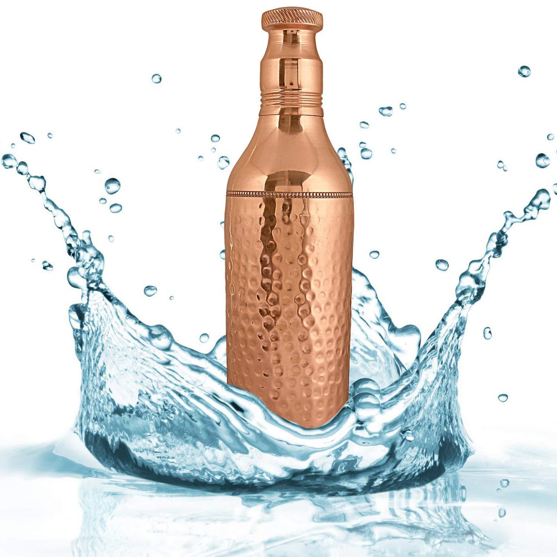 Craft貿易アンティーク形状倫理的ハンドメイド銅ボトルのホームとキッチン1 ltr。 B07C2ZYTC1 Set of 1