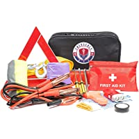 $36 » Roadside Assistance Emergency Car Kit - First Aid Kit, Jumper Cables, Tow Strap, led Flash Light,…