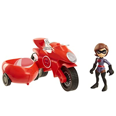 The Incredibles 2 Elasticycle & Elastigirl Vehicle Playset Action Figure: Toys & Games