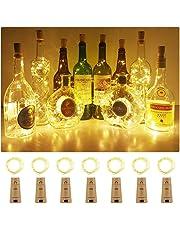 Luci per Bottiglie, Luci a catena a LED,Luci a filo di rame, Lucine bottiglia per Fai da te, Feste, Matrimonio, Halloween, Natale-AMEU