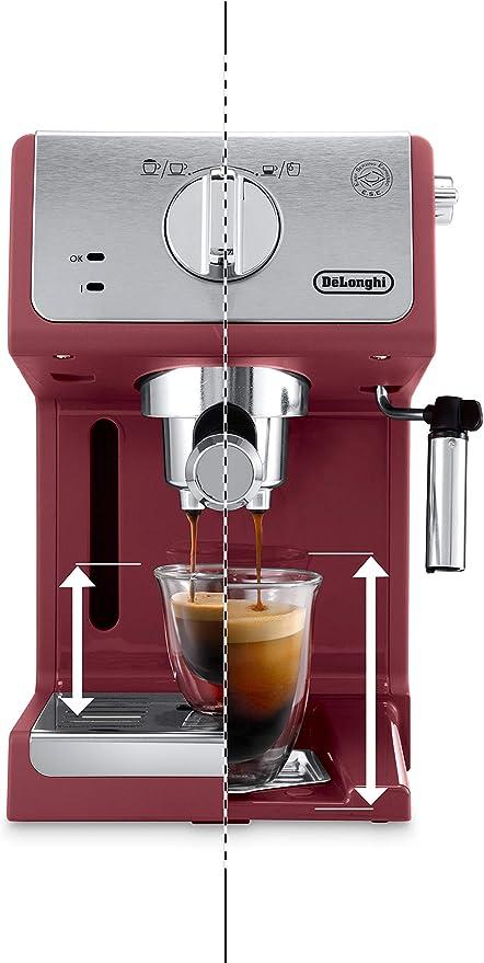 DeLonghi Active Line ECP33.21.R Independiente - Cafetera (Independiente, Cafetera combinada, 1,1 L, De café molido, 1100 W, Rojo): Amazon.es: Hogar