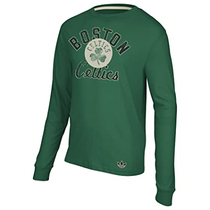 Adidas NBA Boston Celtics Verde, Camiseta de Manga Larga, Hombre, Boston Celtics