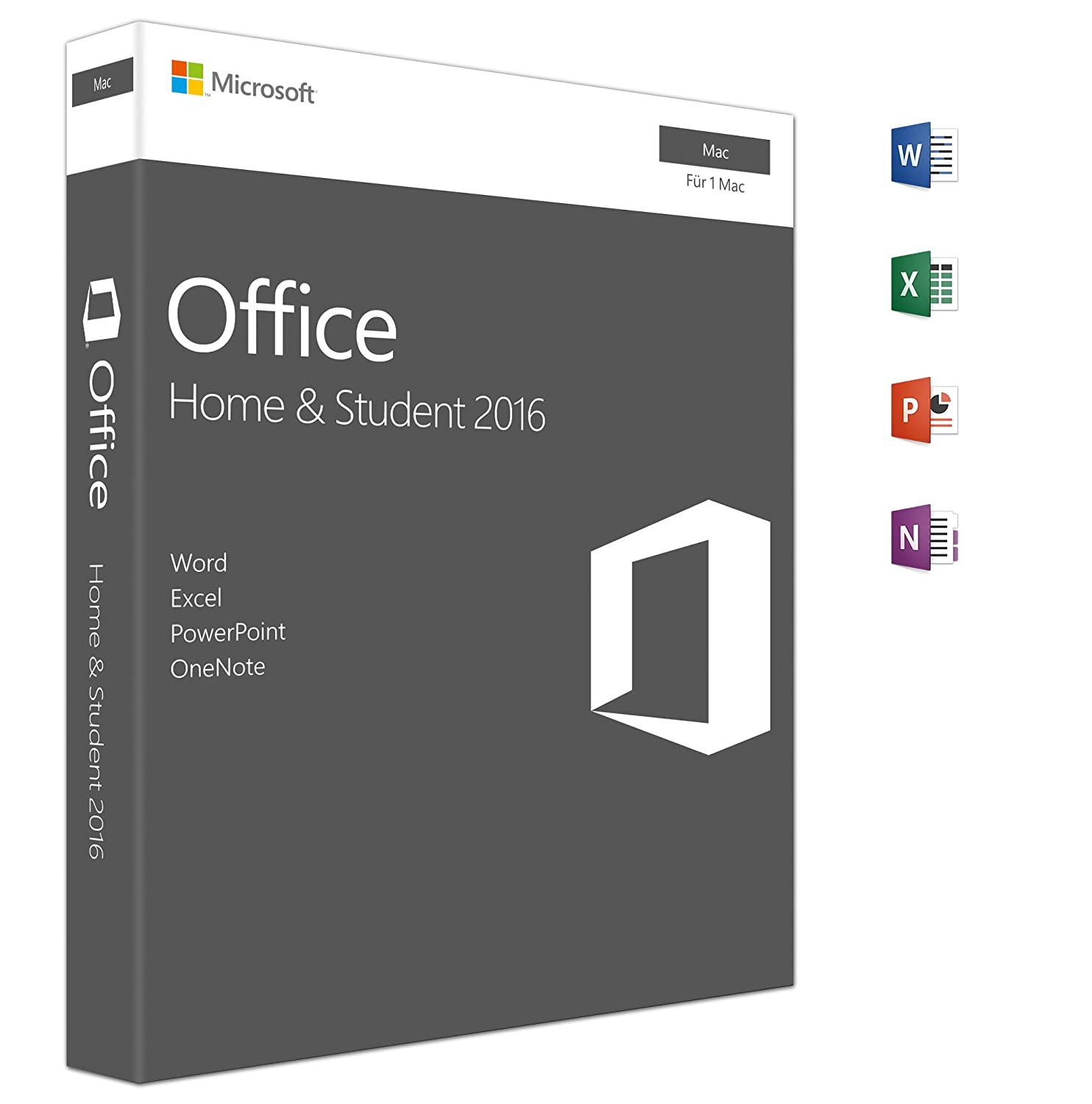 Microsoft Office Home and Student 2016 | Mac | Box: Amazon.de: Software