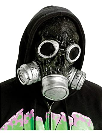 Amazon com: Adult Silver and Black Zombie Gas Mask Gasmask