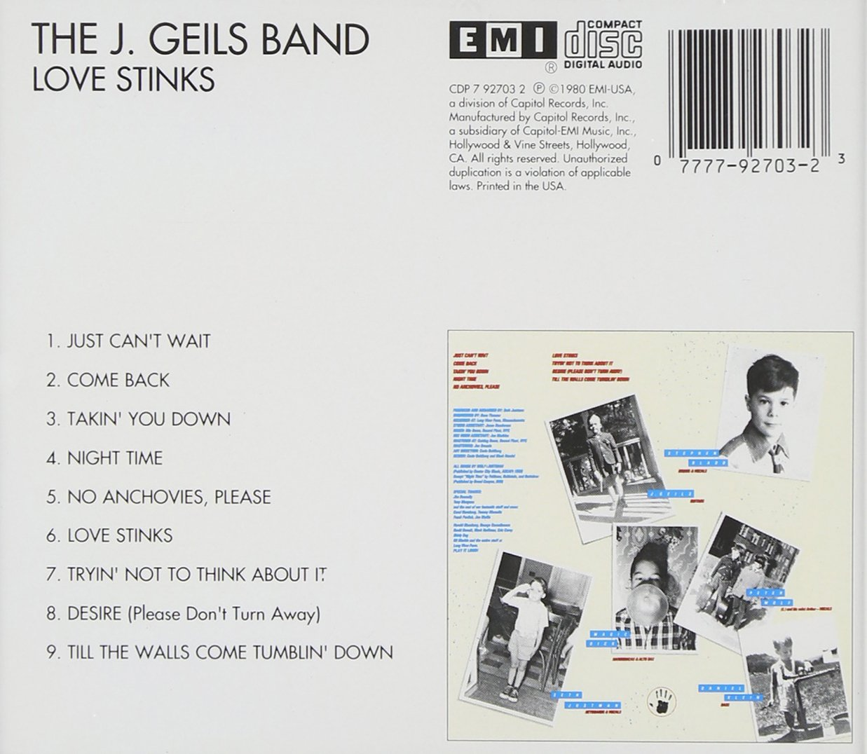 J. Geils Band - Love Stinks - Amazon.com Music