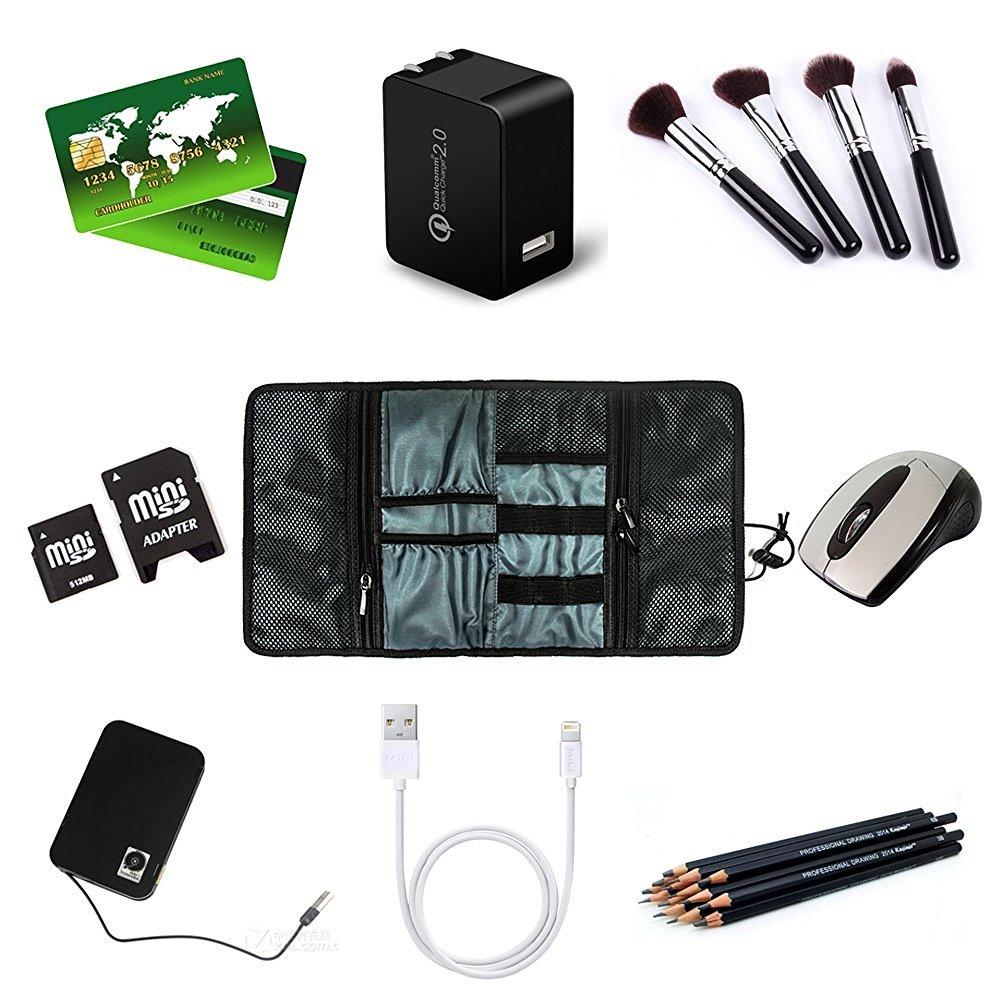 85751651cc45 Estuches de Transporte de Artilugios Pequeñ os Cargador Cables USB Tarjetas  de Memoria SD Auriculares Disco Duro ProCase Bolsa Organizadora de  Accesorios ...