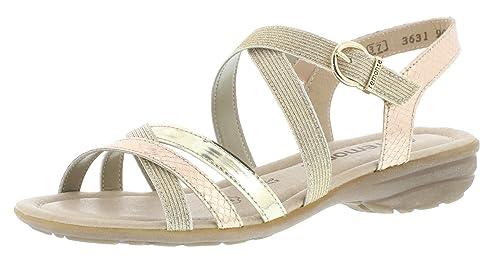 Schuhe Remonte Damen R9052 Slingback Sandalen Schuhe