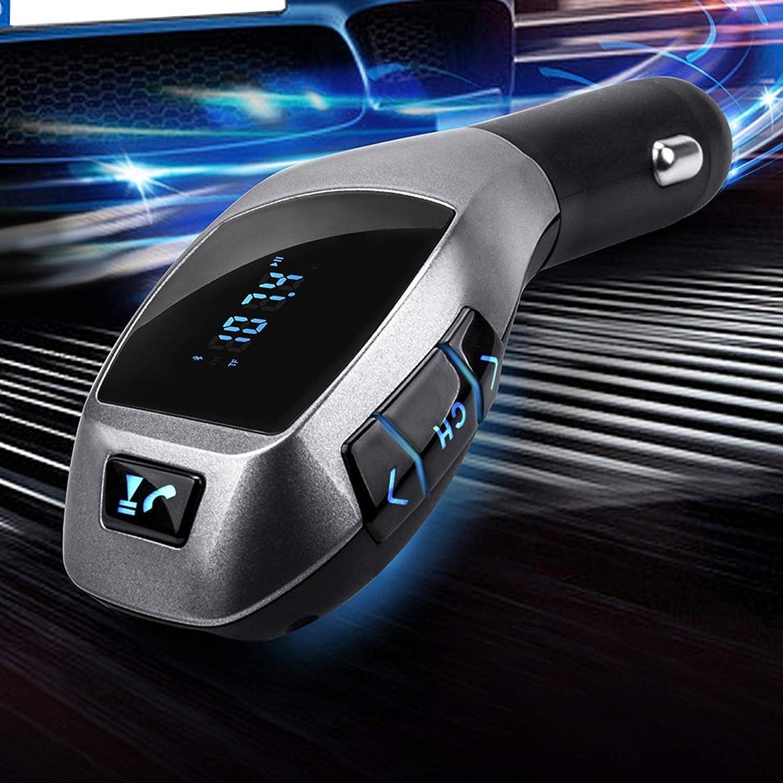 Socobeta Accessorio Automatico per Lettore MP3 per Auto con Chiamata in Vivavoce Wireless Multifunzionale