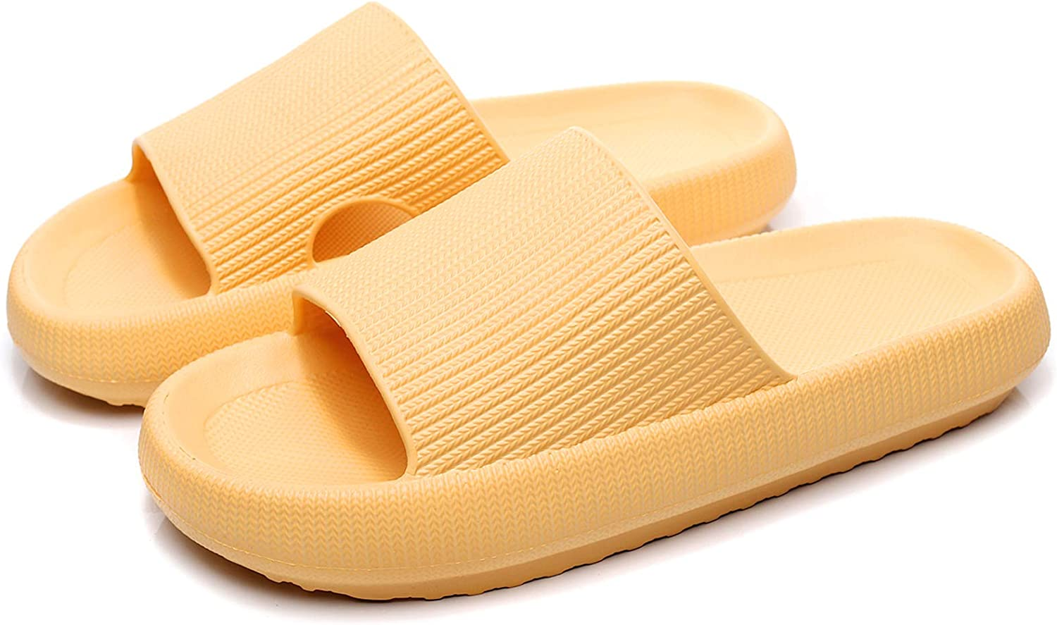 ERLINGO Pillow Slides Slippers Ultra-Soft Slippers Bathroom Non-Slip Thick Soled Shoes Quick Dry Platform Shower Slides Super Soft Home Pillow Slides for Women and Men Casual Style
