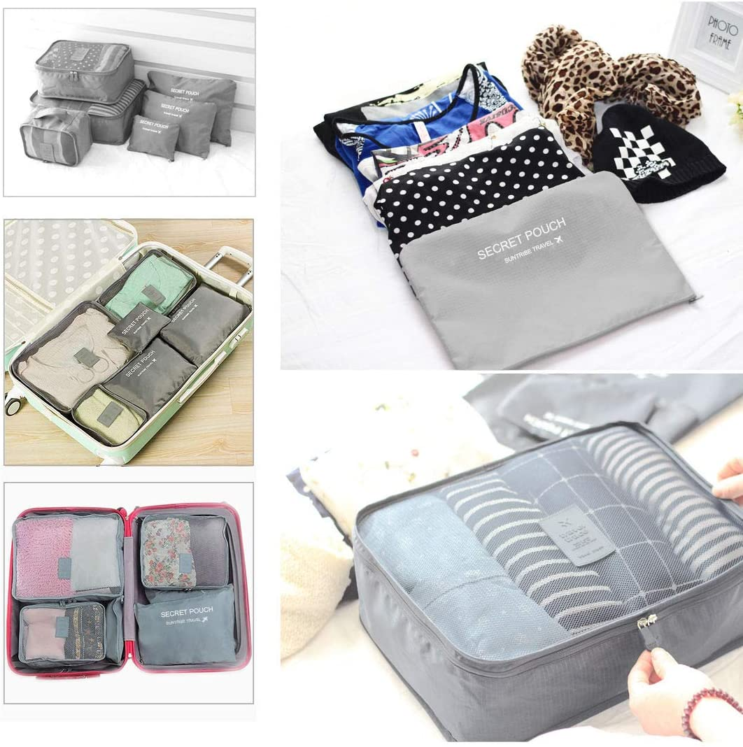 Snow Shop Waterproof Travel Storage Bags Clothes Packing Cube Luggage Organizer Pouch 9Pcs