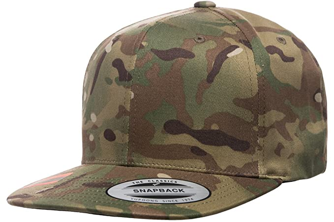 57b653742c3 Image Unavailable. Image not available for. Color  Flexfit Yupoong 6089MC  Multicam Snapback Hat ...