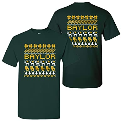 decc45f7a127d UGP Campus Apparel AS30 - Baylor Bears Holiday Ugly Sweater T-Shirt - Small  -