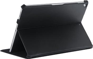 """StilGut UltraSlim Case, étui de Protection pour iPad Pro 12.9"""" (2017) avec Fonction Support réglable. Coque Fine avec Fonction Veille/réveil pour Apple iPad Pro 12,9 Pouces (2017), Noir"""