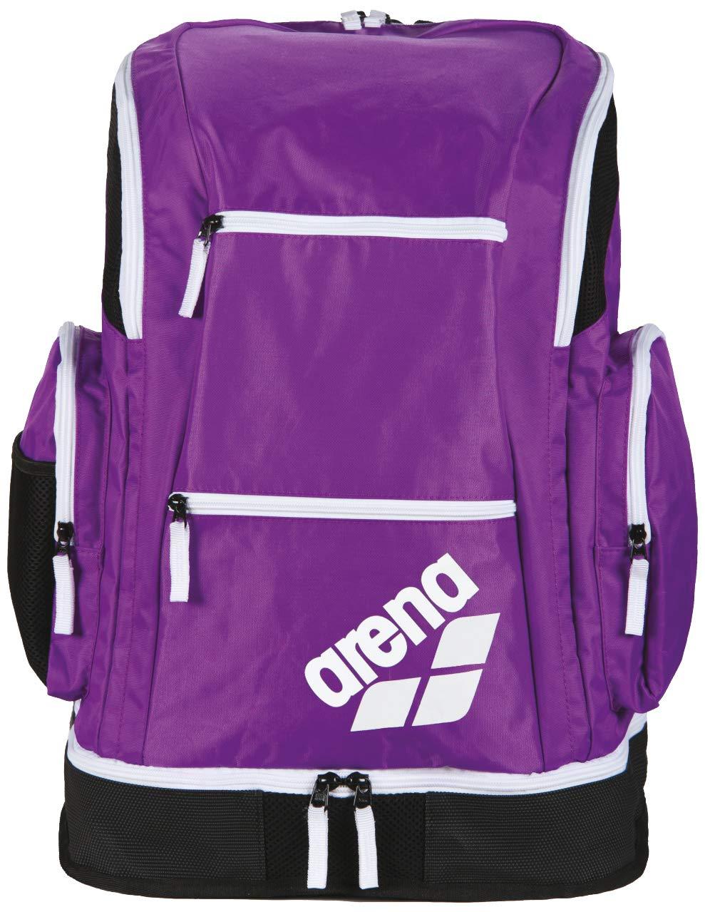d8929fea763 Amazon.com: arena Spiky 2 Large Swim Backpack, Purple/White/Fluo Green:  Sports & Outdoors
