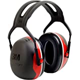 3M Peltor X-Series Over-the-Head Earmuffs, NRR 28 dB, One Size Fits Most, Black/Red X3A (Pack of 1)