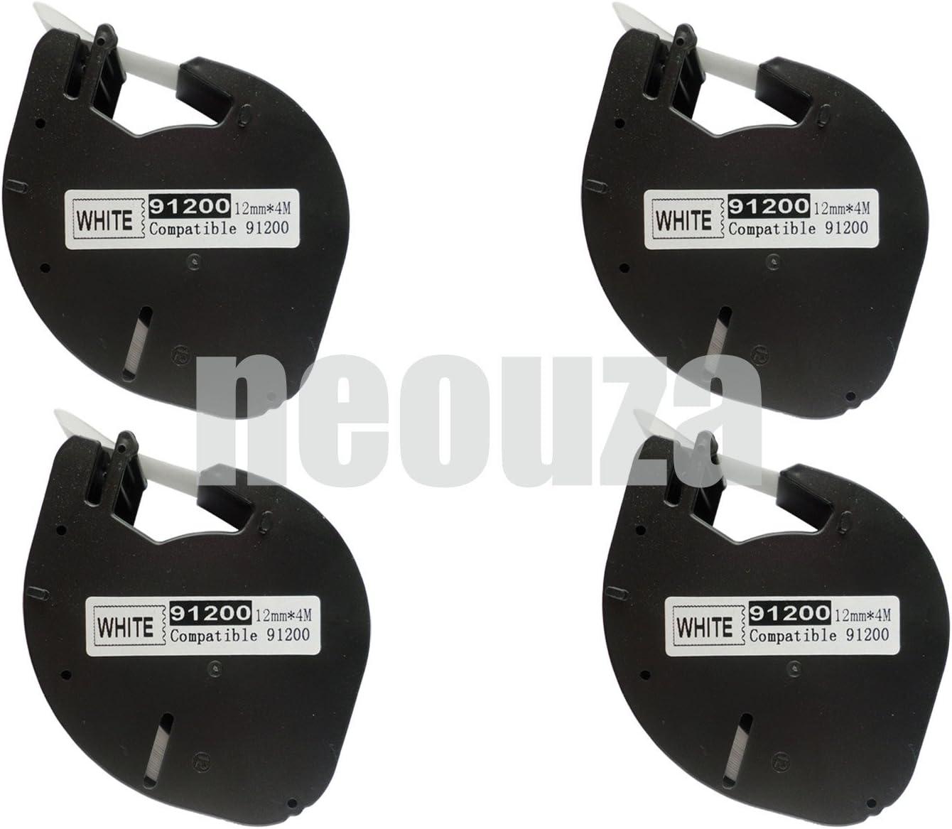 6PK compatible Dymo 91200 S0721510 WHITE Paper LetraTAG LT LABEL Tape LT100H