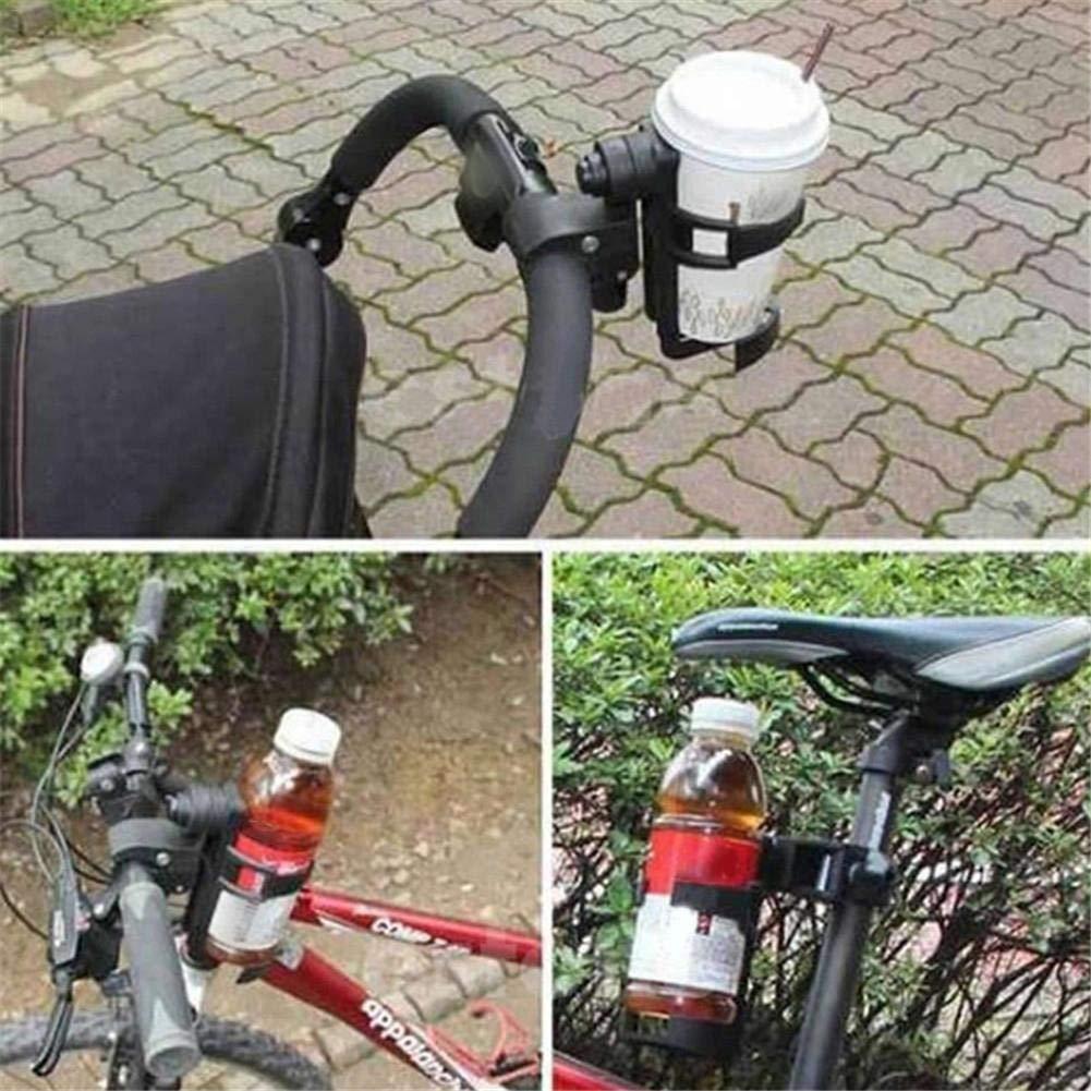 Szseven Soporte De Vaso para Cochecito De Sujeci/ón Adecuado para Buggy Caldera De Bicicleta Ajustable Soporte De Vaso para Cochecito Soporte para Botella De Beb/é Accesorios para Autos De Beb/é