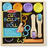Melissa & Doug Cut Sculpt and Stamp Clay Play Set, Multi Color