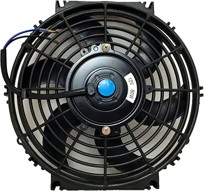 """5X Universal Durable 3"""" 12V Square Turbo Cooling Fan For Amplifier Components"""