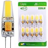 Liqoo® 10 x Ampoule LED G4 2 W COB AC DC 12V Bulb Lumière Blanc Froid 6000K Lampe Spot light High Power Angle de Faisceau 260° 220LM Equivalent à Halogène 20W