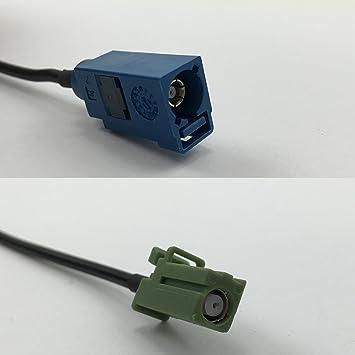 Cable coaxial RG316 Fakra azul GPS a Avic Green Pioneer Jack Pigtail Jumper RF 50 ohm envío rápido EE. UU.: Amazon.es: Electrónica