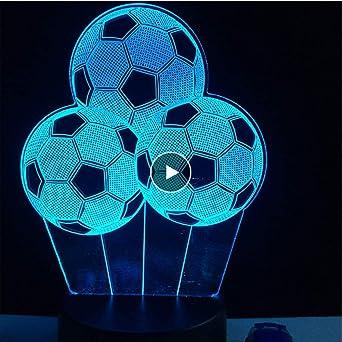 Lkfqjd 7 Cambio De Color Creativo Balón De Fútbol Luz Nocturna ...