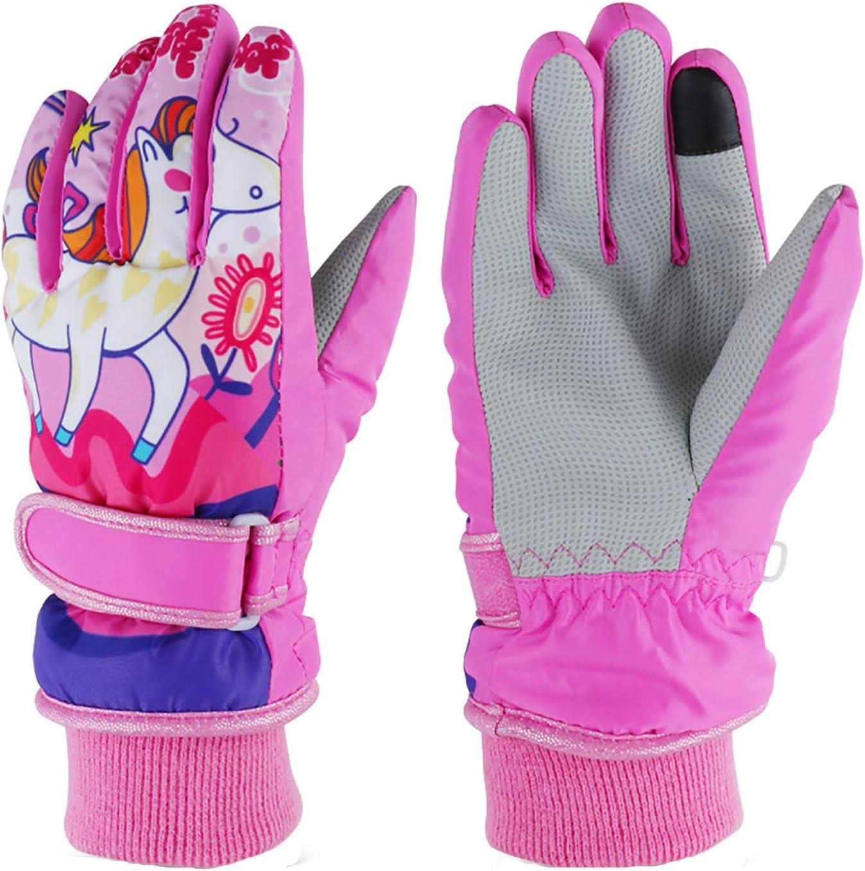 Kids Ski Gloves,Winter Warmest Waterproof and Breathable Snow Gloves for Boys Girls Children Skiing,Snowboarding Shoveling Windproof Juniors Thermal Gloves GL8