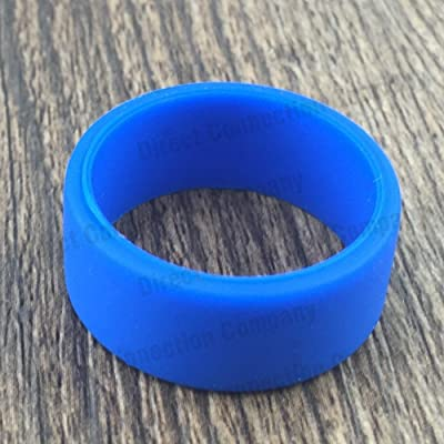 22mm Bands Silicone Protective Ring Cover Bumper Band 21 Colors Available (10-Pack (Blue))