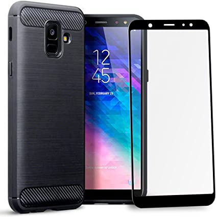 online retailer d3673 6242d Olixar Samsung Galaxy A6 Case with Screen Protector - 360 Degree Full Body  Cover - Edge to Edge Tempered Glass - Front and Back Tough Rugged ...