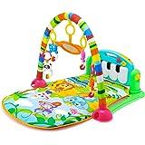 Leting Gimnasio Manta de Juegos Dinámica para Bebé, Piano Pataditas, 4 Animales Enlightenment Education, Gimasios Bebe (Verde)