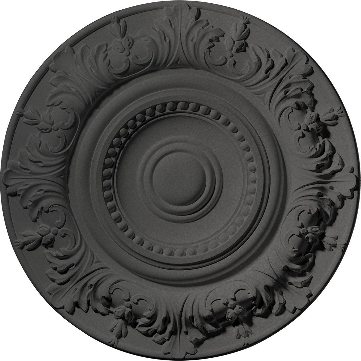 Ekena Millwork CM20BXSGS Biddix Ceiling Medallion, Steel Gray