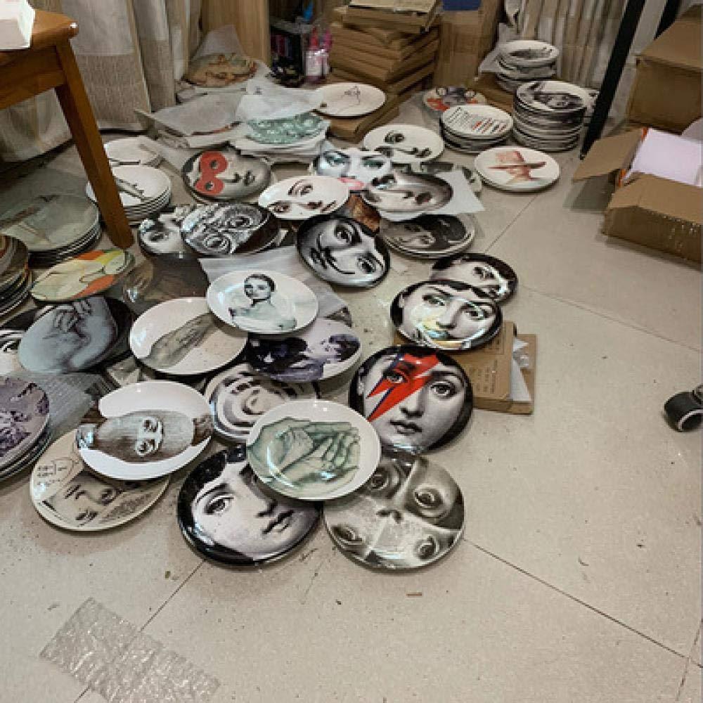 XXPF Fornasetti piatto da appendere piatto da parete decorazione ceramica europea piatto da cucina nordico decorazione da parete decorazione piatto da tavola 8 pollici