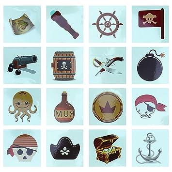 Etiqueta engomada del tatuaje pirata, tatuaje temporal tatuaje pirata ...