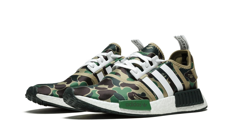 brand new 15803 d4fa0 Amazon.com   adidas NMD R1 Bape - BA7326 - US 8   Fashion Sneakers