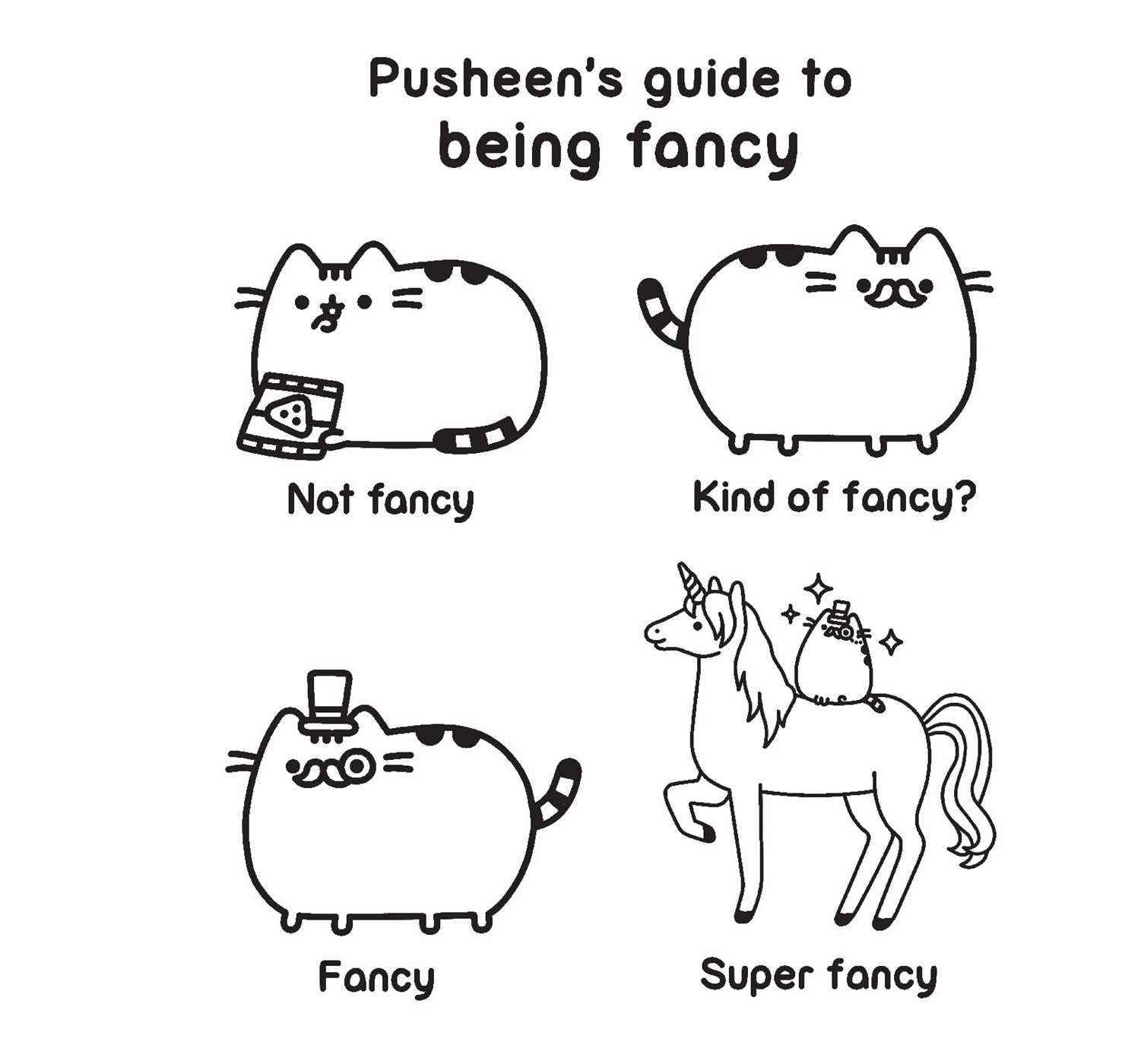 Pusheen Coloring Book A Pusheen Book Amazon De Claire Belton
