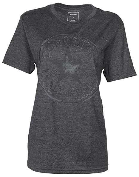 54d303199e33 Converse Women s Tonal Core Patch Chuck Taylor Tee-Dark Heather Grey-XS at  Amazon Women s Clothing store