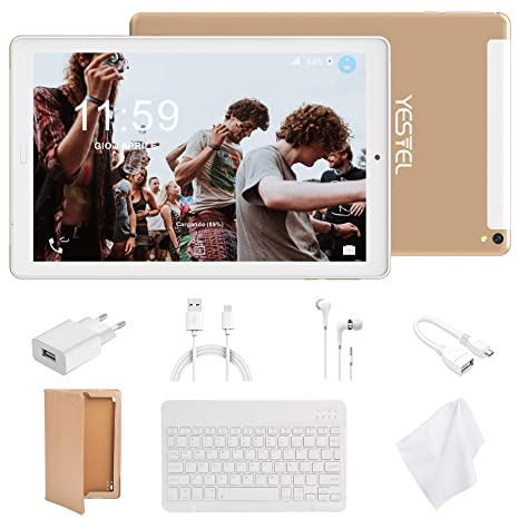 Tablet 10 Pulgadas 4G LTE Tabletas con 3GB RAM & 32GB ROM y YESTEL ...
