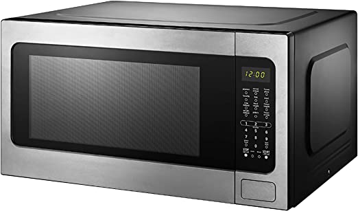 Amazon Com Black Decker Em262amy Phb 2 2 Cu Ft Microwave With Sensor Cooking Stainless Steel Kitchen Dining