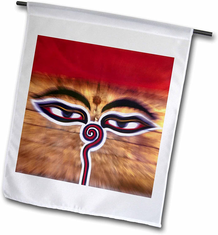 3dRose fl_75470_1 Nepal, Kathmandu Valley Swayambunath, Temple-AS26 RER0035-Ric Ergenbright Garden Flag, 12 by 18-Inch