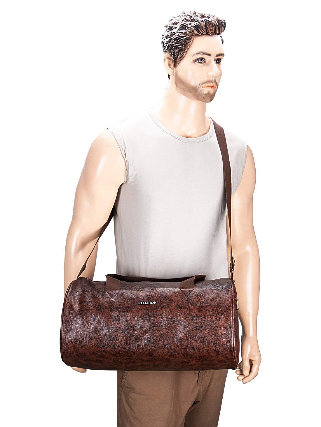 Killer best leather gym bags for men