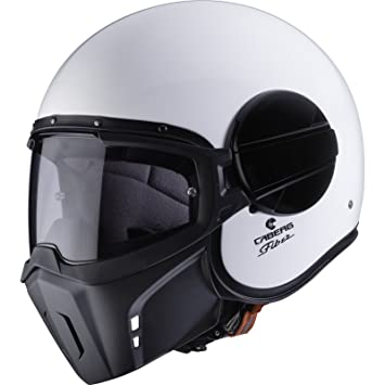 Caberg Ghost White Open Face Motorcycle Helmet XS White
