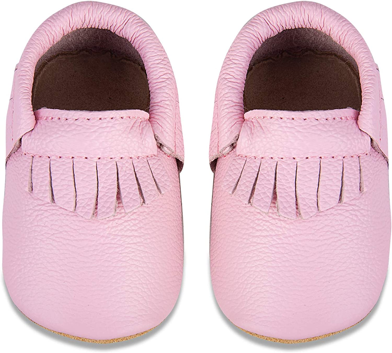 Babies Baby Shoes Genuine Leather with Non-Slip Suede Soles Infant Moccasins for Boy,Girl,Newborns Toddlers