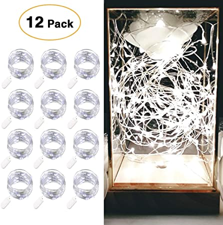 2M 20LEDs Button Battery Mini LED Silver Wire String Fairy Lights Wedding Decor