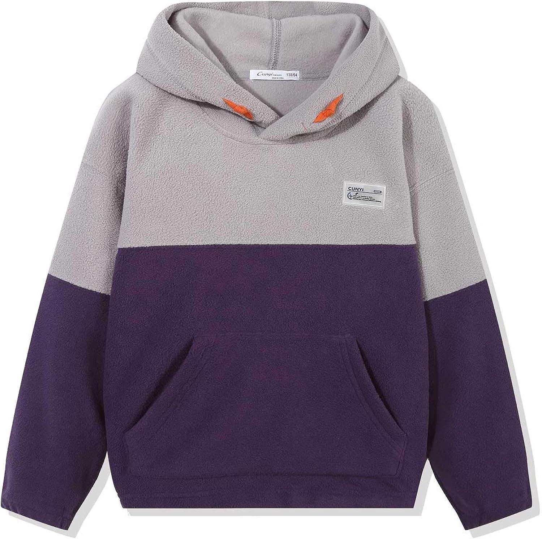 New Kids Boys Contrast Colour Arm Kangroo Pocket Pullover Hoodie Sweatshirt Top
