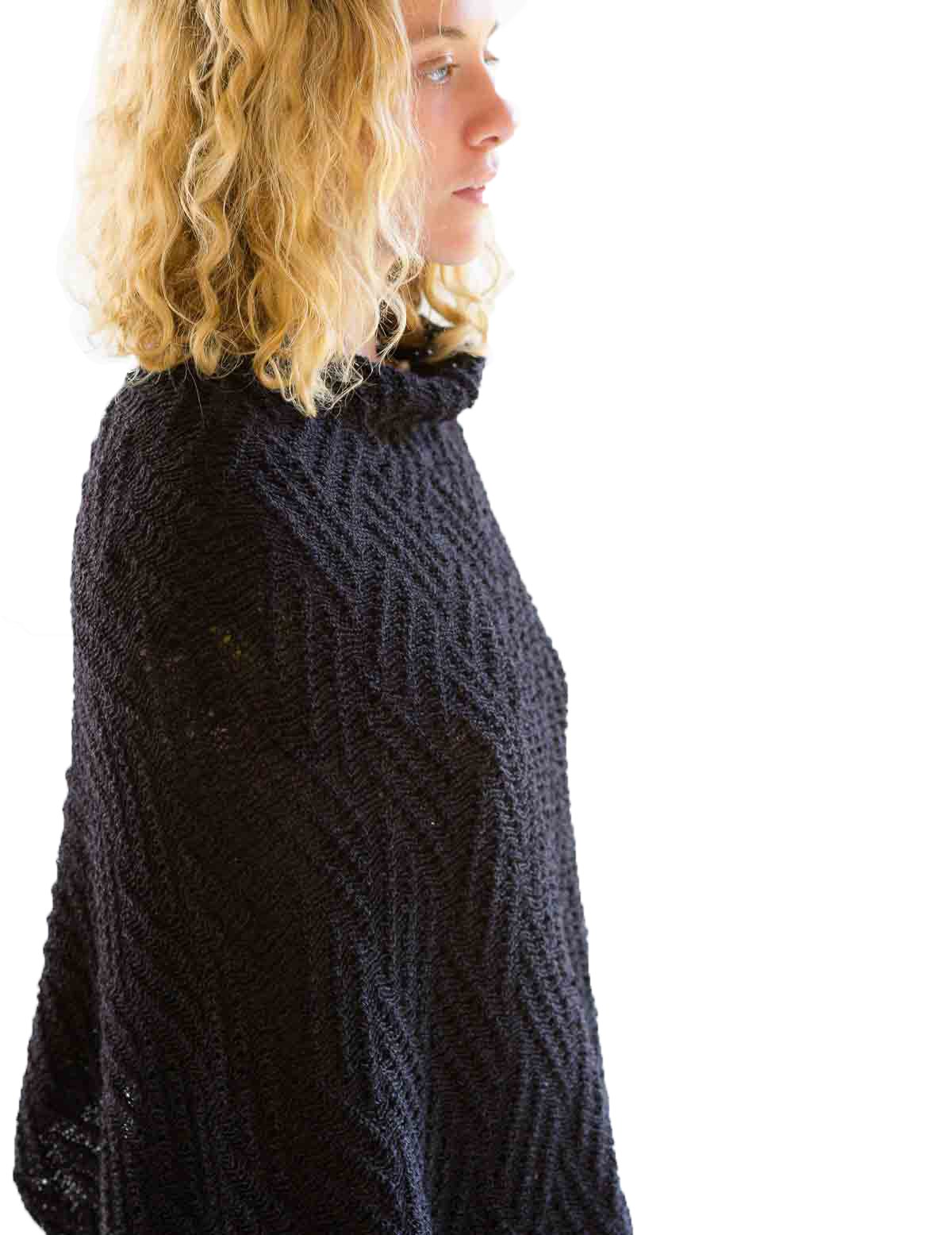 Lazybones Suzy Poncho in Charcoal by Lazybones