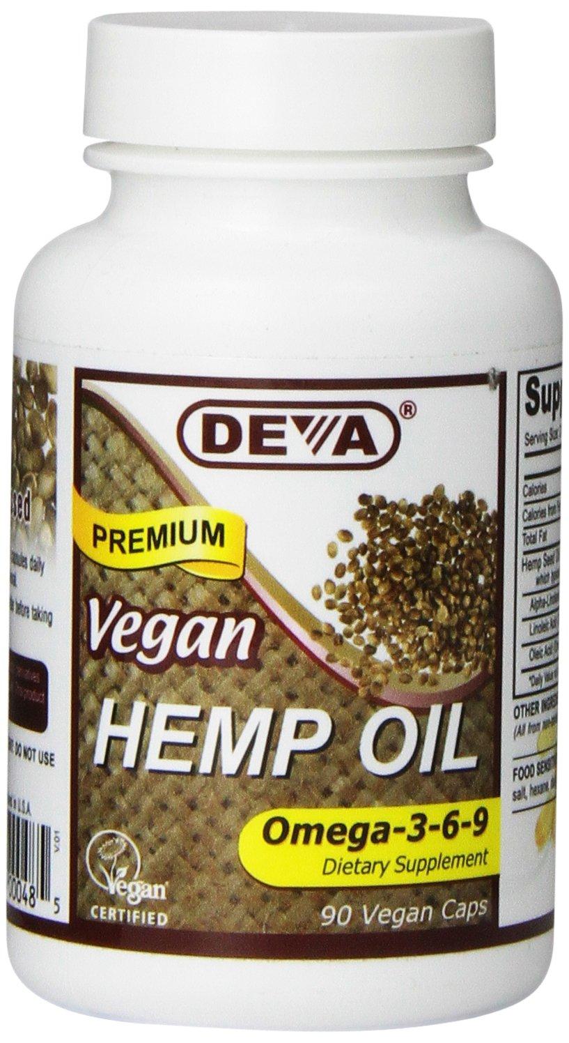 Deva Nutrition Vegan Hemp Oil Capsules, 90 Count