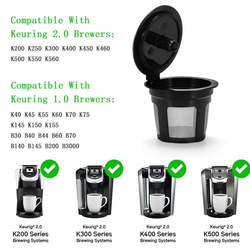 3 piezas reutilizable filtro de malla de acero inoxidable Filtro ...