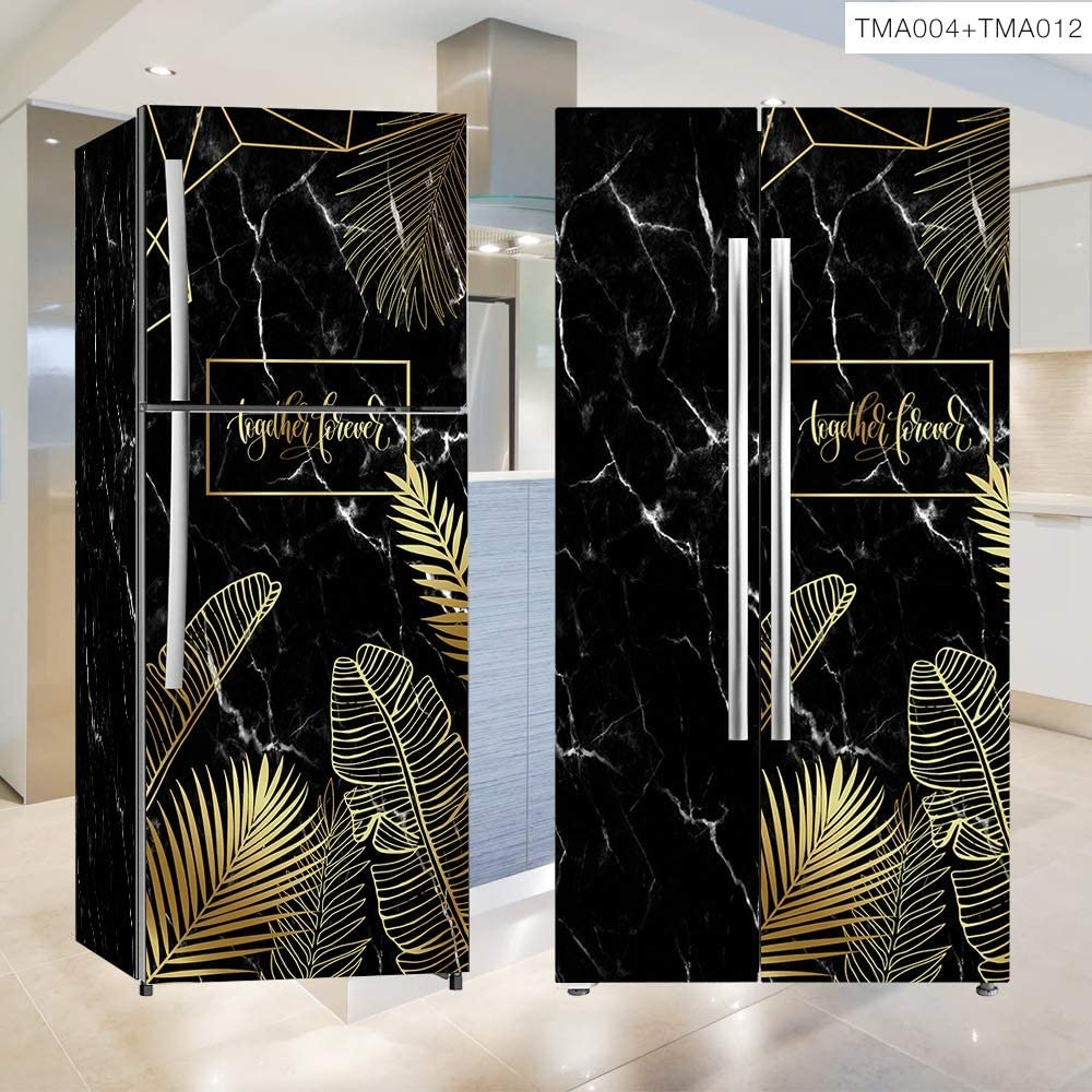 Etiqueta engomada del refrigerador de la puerta Cubierta del armario DIY para el refrigerador Cubierta Puerta completa Etiqueta de la pared Pasillo Mural (Size : 50 * 120): Amazon.es: Bricolaje y herramientas